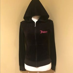 Juicy Couture Black Velvet Hoodie